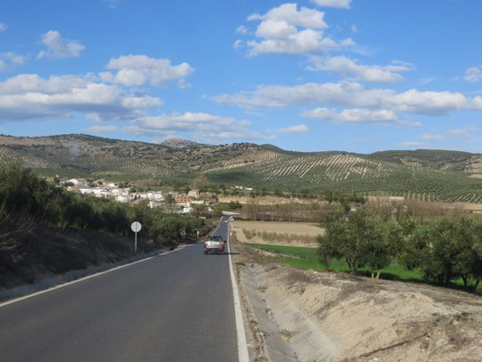 Landschaft rund um Jaén