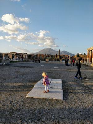 Pompeji mit dem Vesuv