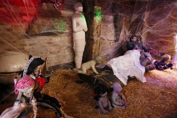 Gruselige Halloween-Deko überall