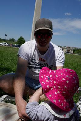 Washington DC - Picknick am Washington Monument