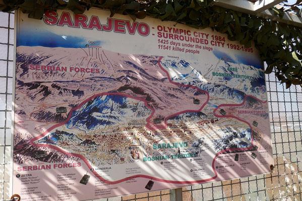 eine Karte der besetzten Stadt