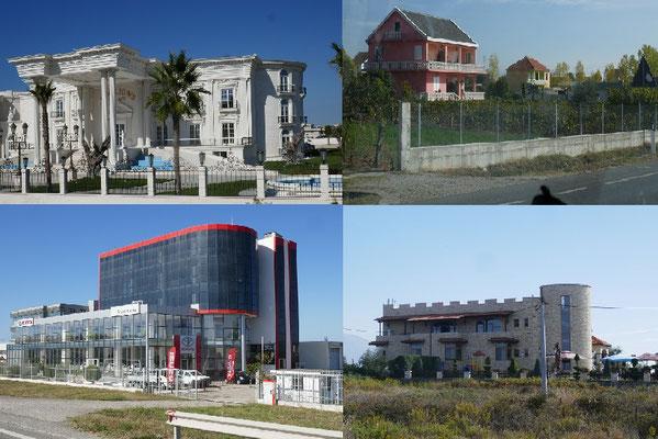 Impressionen aus Albanien - Häuser und Firmen wie bei uns