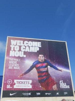 Das Fußballstadion Camp Nou