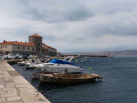 stürmischer Tag an der kroatischen Küste