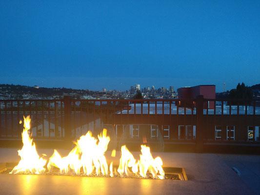 Schöne Abende auf der Dachterrasse