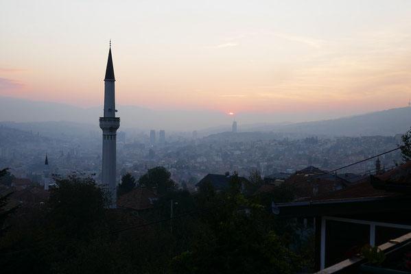 Sarajevo - Blick aus unserem AirBnB