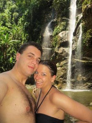 Baden unterm Wasserfall