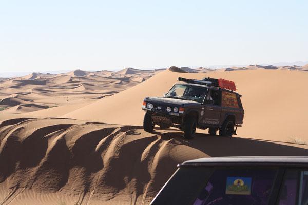Autohaus Cars & More Sachsenheimer Range Rover Classic Offroad Wüstenfahrzeug