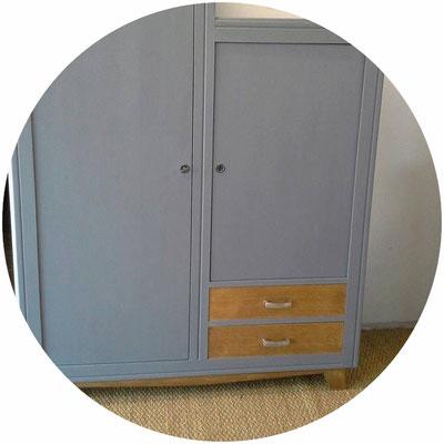armoire vintage, armoire ancienne, vestiaire d'ecole, vestiaire ancien