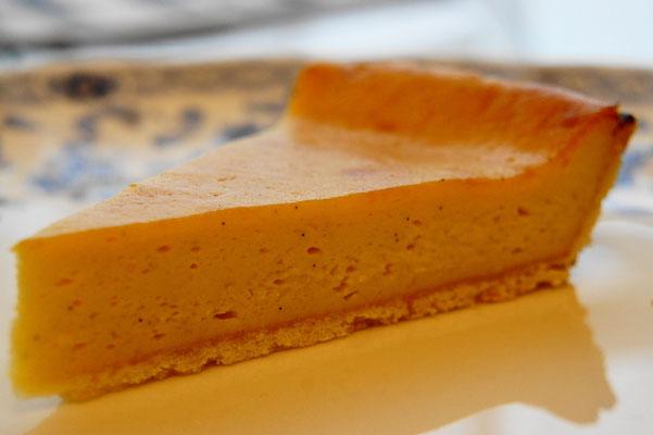 焼き菓子屋のフラン ; 焼いたカスタードクリームを味わうタルト。むっちりとしたカスタードクリームのミルキーで余韻の長い味わいに身体も心も満足できます。