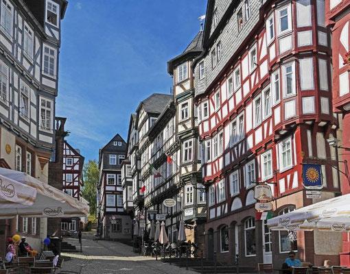 Städtereise Marburg Oberstadt historisches Zentrum