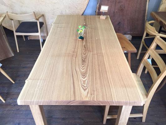 タモ 一枚板 ダイニングテーブル