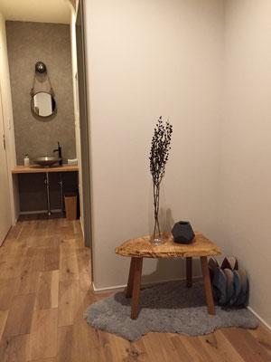 トチ スツール 木