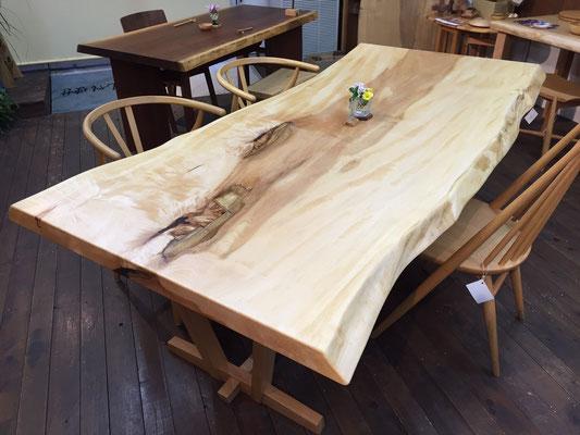 栃 一枚板 ダイニングテーブル