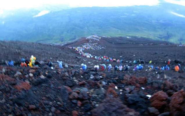 "A lot of people in Japan want to climb Fujisan once in their life.  That is what some people call a ""bucket list"" item."