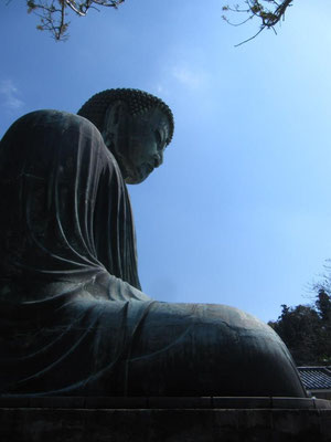A visit to Kamakura isn't complete without a photo of the Daibutsu!  In the winter of 2015-2016 the statue is being restored, so you may have to wait to see it.