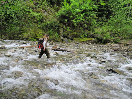I love hiking.  Shallow rivers are easy to walk across, but can be very cold!