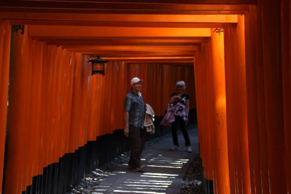 My parents had a great time visiting Kyoto with me.  This is at the Fushimi Inari Shrine.