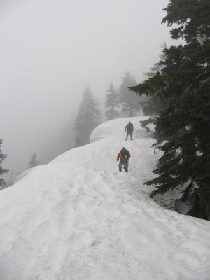 Sometimes I go hiking in the snow.  This photo is on Brunswick Mountain near Vancouver Canada.