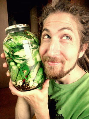 Making pickles at home!  Delicious!