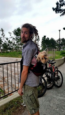 My little buddy and me go for bicycle rides to Nojima!  野島公園, 金沢八景