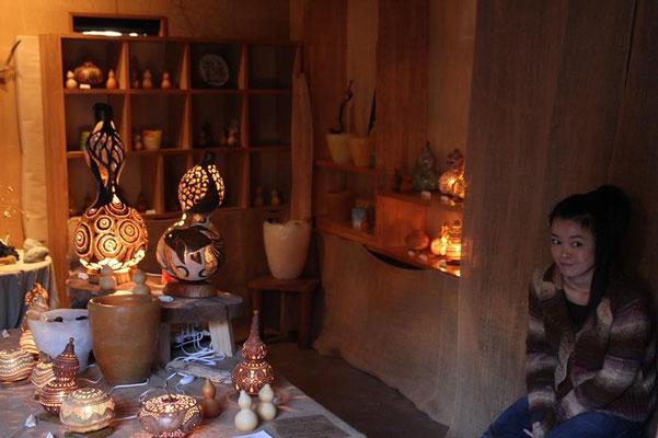 A Hyoutan lamp gallery.