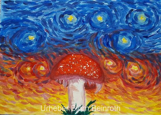 """Mushroom Dream"" Acryl A4   [2016]"