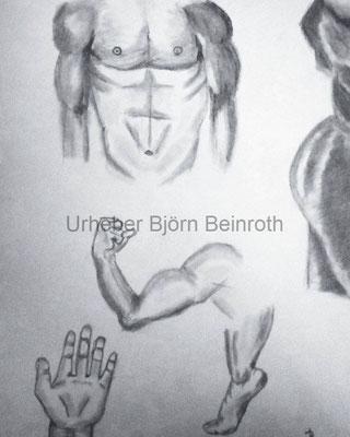 Anatomiestudien im Skizzenbuch   [2018]