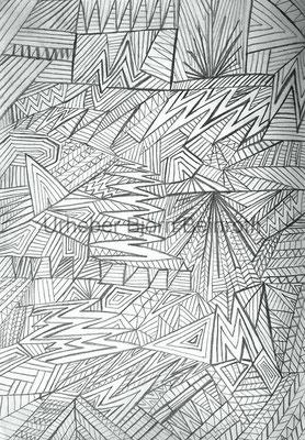 Linien Bleistiftzeichnung freihand A4 Skizzenbuch