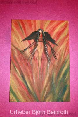 """""""Herzschmerz"""" Gemälde aus Öl auf Baumwolle, Keilrahmen 50 x 70 cm    [2007]"""