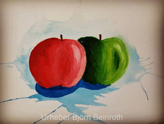 """Apple Splash"" Aquarell A4   [2016]"