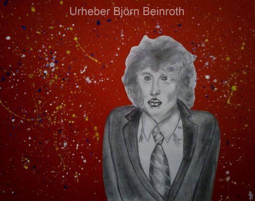 """""""Big Bang"""" Scherenschnitt auf farbigem Ingres 39x30 cm Bleistift Graphit Acryl [2018]"""