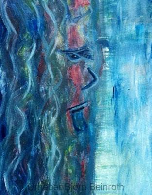 """""""Drowned"""" Acryl A4 auf Aquarellpapier   [2018]"""