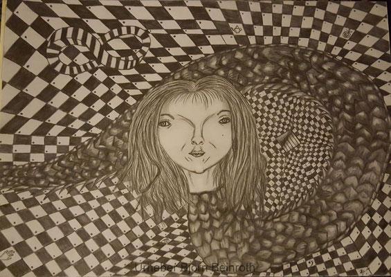 """""""Hirnwurm"""" Bleistift Din A4   [2015]"""
