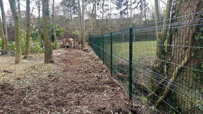 Pose clôtures Bekaert dans la région de Charleroi