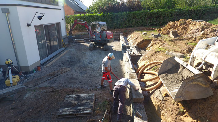 Création d'une terrasse en Hainaut