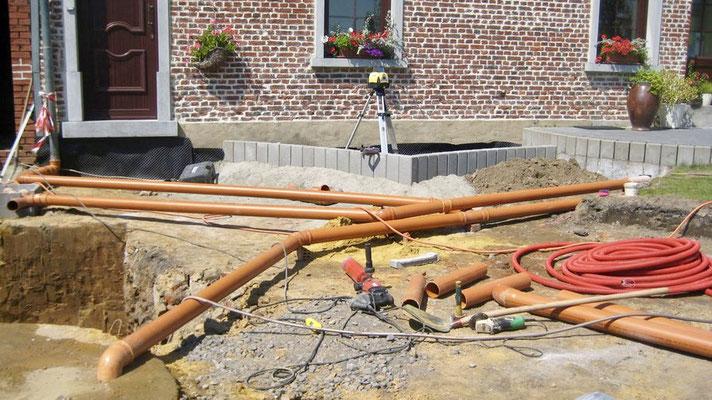 Construction d'un réseau d'égouttage