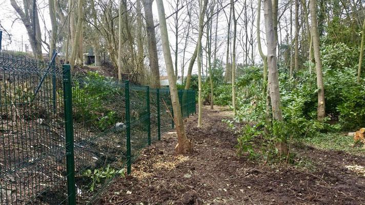 Pose clôtures Betafence en Brabant par BLS jardin