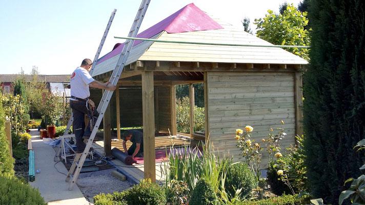 Construction d'abris de jardin par BLS en Brabant Wallon