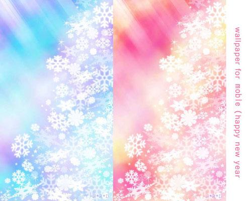 お正月用の、きらきらした和風のデザイン。これで年賀状データも作っていました。