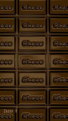 板チョコをイメージした、バレンタイン用の待ち受け。