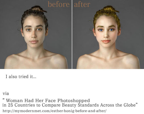 「美人」とはどういうものか、という問いかけの記事を見て、試作してみたもの。