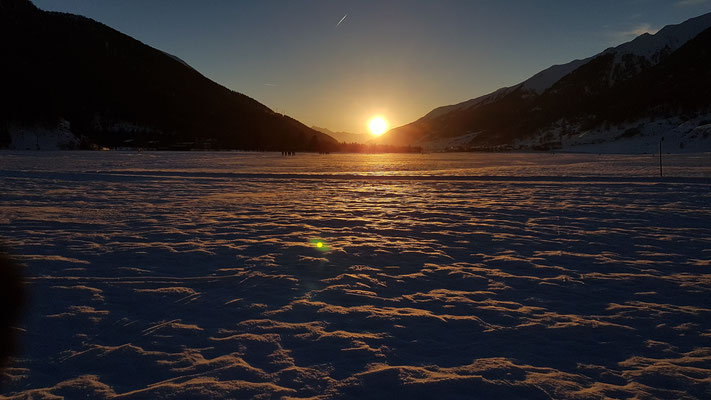 Sonnenuntergang im Goms