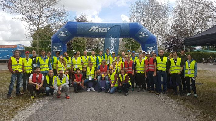 Crew des Triathlons - Mitglieder des 3athlon-Bern