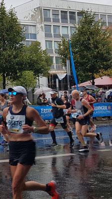 Kurz vor dem Ziel des Berlin-Marathon 2019