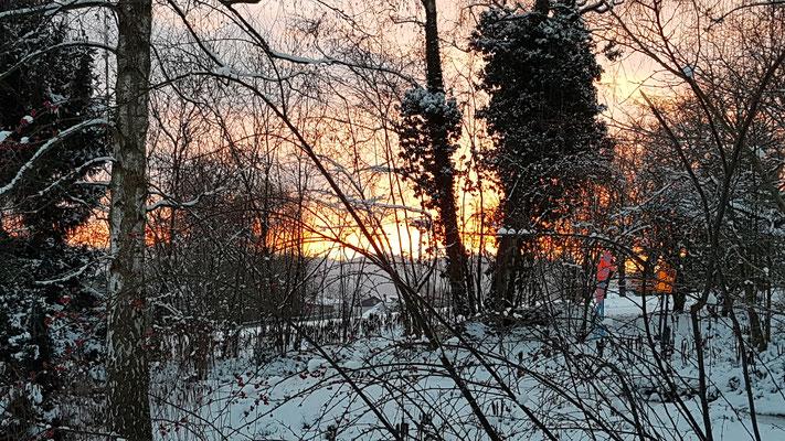 Morgenstimmung mit Schnee