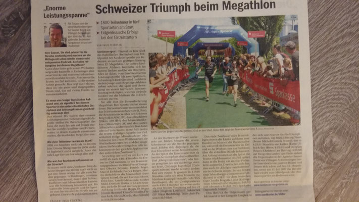 Königin des Bodensees - so wird die Siegerin in der Zeitung bezeichnet:-)