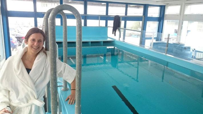 Tabea beim Schwimmkanal