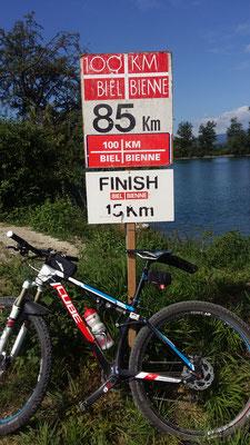 Und das ist noch toller.... nur noch 15km bis ins Ziel
