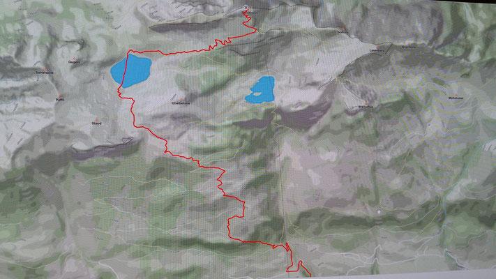 Die Route führte durch einen See - ob sie geschwommen sind?